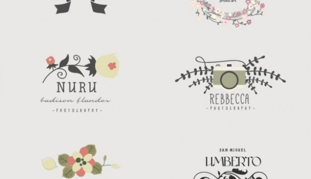 Visual artist floral logo templates  Vector |   Download
