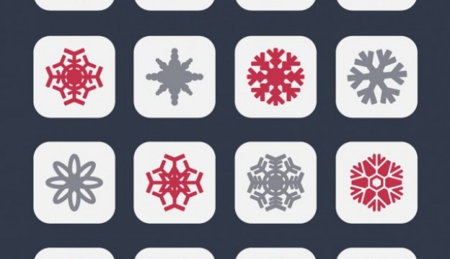 Snowflakes icons in two colors  Vector |   Download