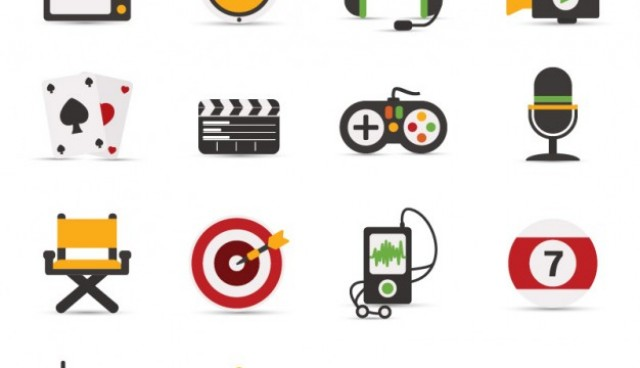 Colorful iconic objects  Vector     Download