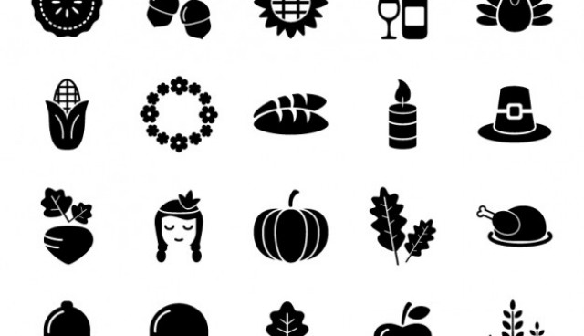 Thanksgiving and autumn icon pack  Vector |   Download