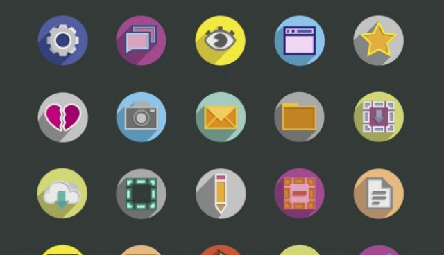 Assorted colorful round icons  Vector |   Download