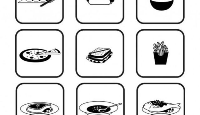 Black and white food icons  Vector |   Download