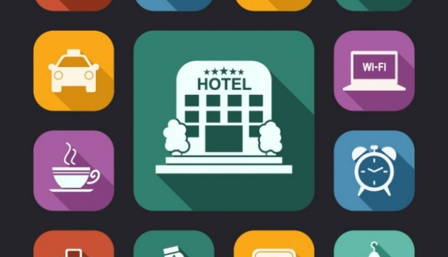 Hotel white icons pack  Vector |   Download