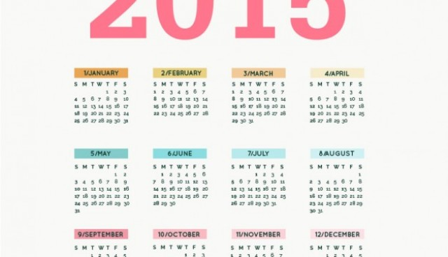 Editable 2015 calendar vector  Vector |   Download