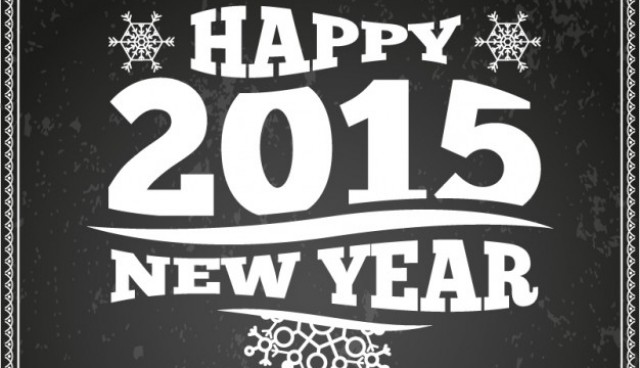 Retro style New Year card  Vector |   Download
