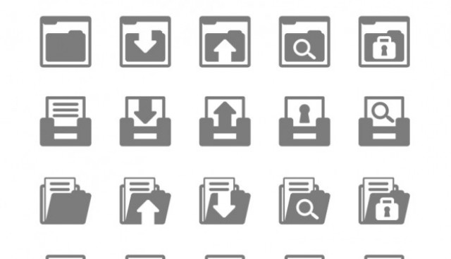 Files flat icons pack  Vector |   Download