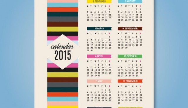 2015 colorful calendar vector art  Vector |   Download