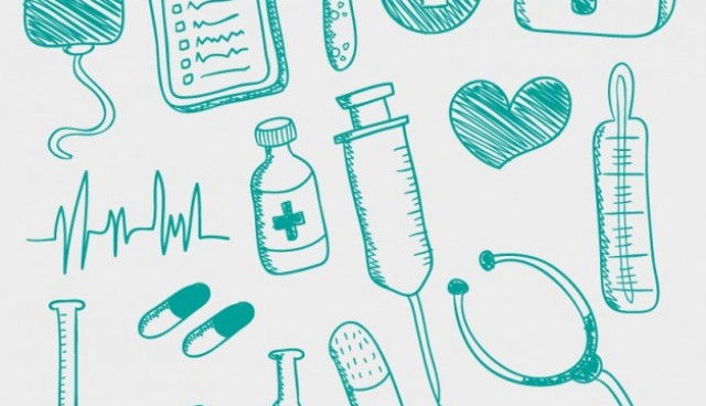 Hand drawn medical icons  Vector |   Download