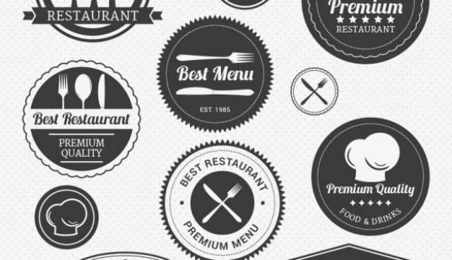 Vintage restaurant logos pack  Vector |   Download