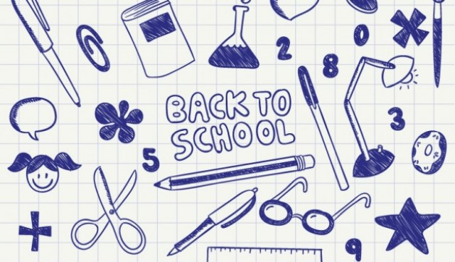 Back to school ink doodles  Vector |   Download
