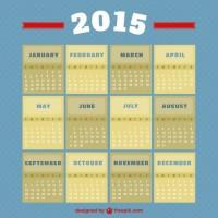 Vintage style 2015 calendar  Vector |   Download