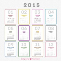 Plain 2015 calendar  Vector |   Download