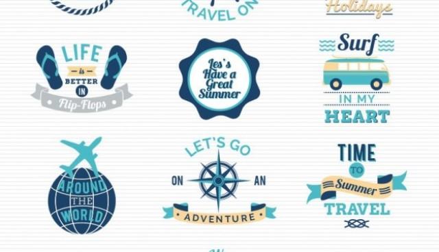 Traveling and sailing logos  Vector |   Download