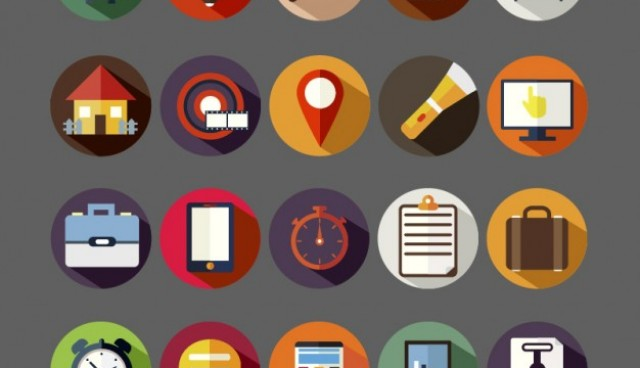 Assorted round icons  Vector |   Download