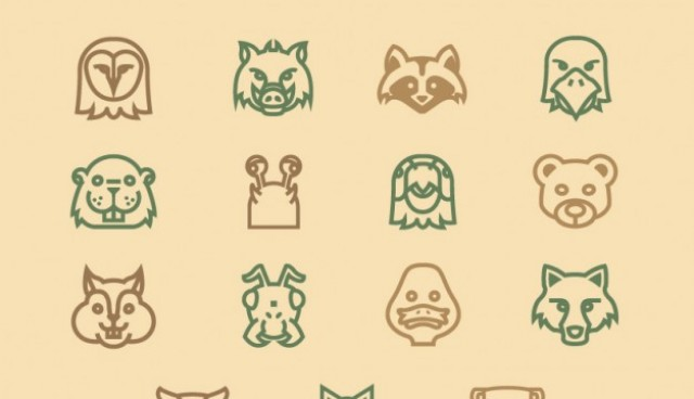 Forest animals icons pack  Vector |   Download