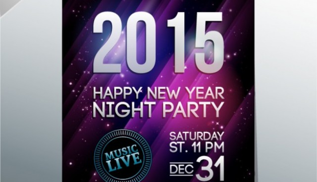 New year's party poster  Vector |   Download