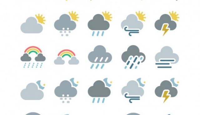 Weather forecast icons  Vector |   Download