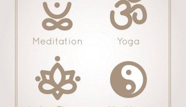 Yoga and meditation icons  Vector |   Download
