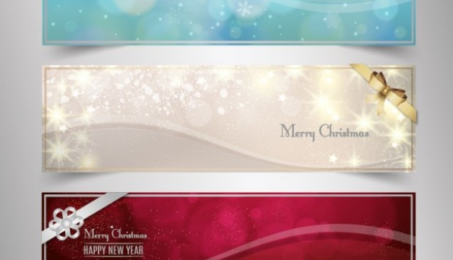Bright Christmas banners  Vector |   Download