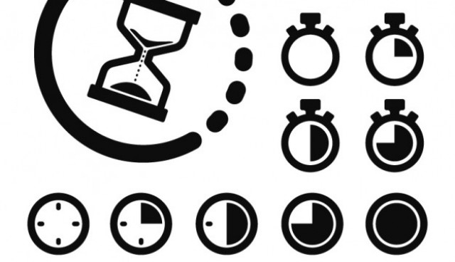 Time and clocks icons  Vector |   Download