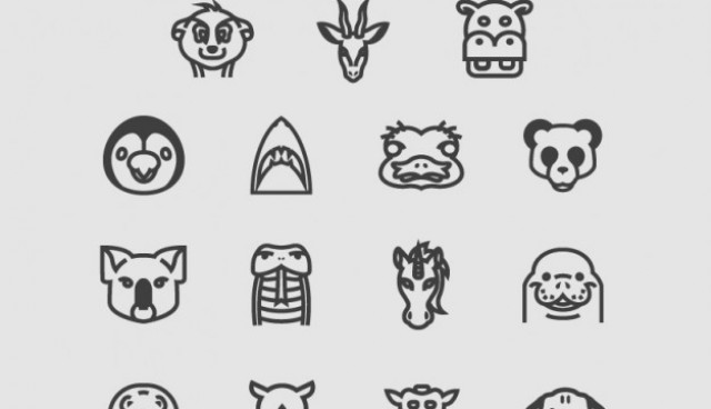 Animals icons pack  Vector |   Download