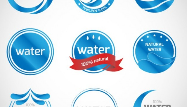 Mineral water logos collection  Vector |   Download