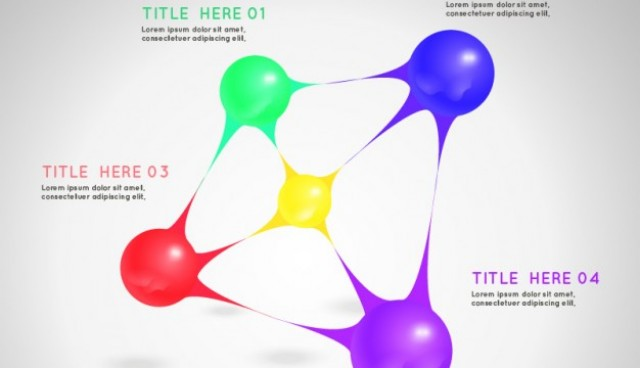 Template with color spheres  Vector |   Download