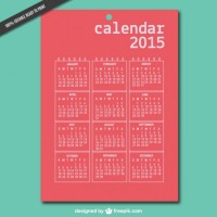 Printable 2015 vector calendar  Vector |   Download