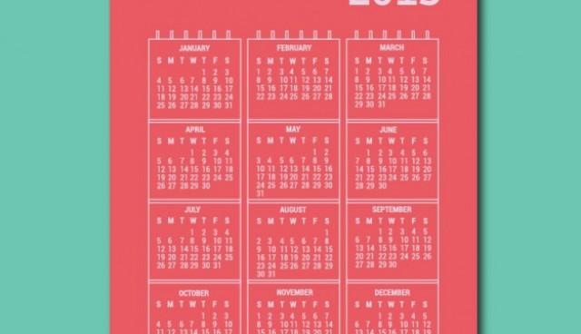 Printable 2015 vector calendar  Vector |   Download