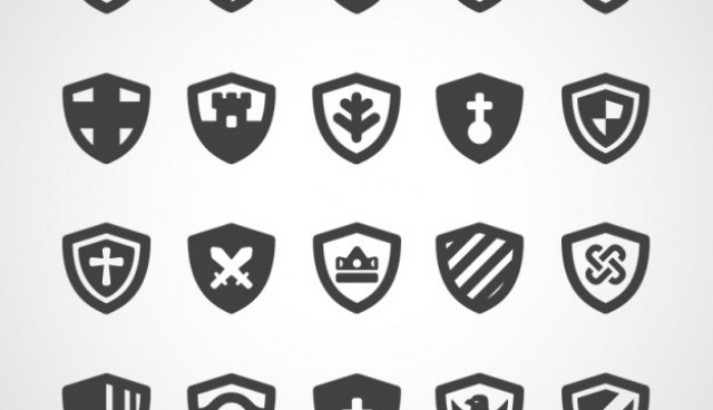 Shields icon pack  Vector |   Download