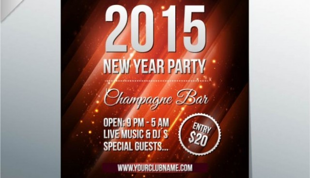 New year's eve party poster  Vector |   Download
