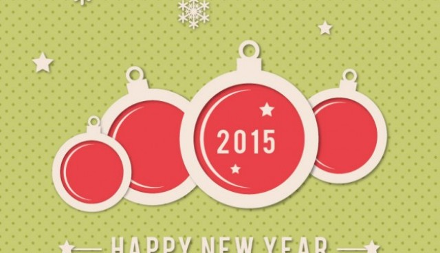 Happy New Year background for 2015  Vector |   Download