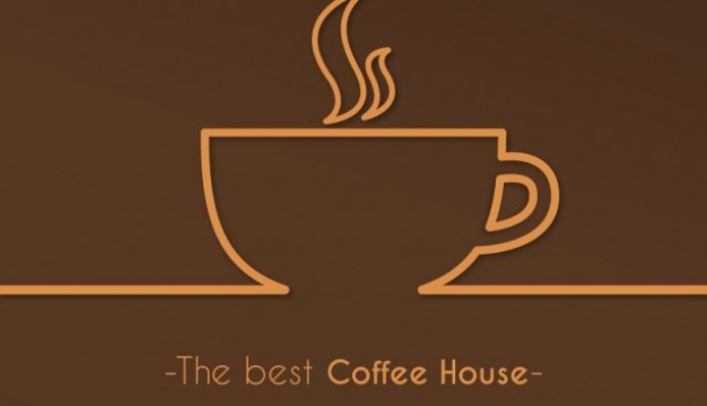 Best coffee house logo vector  Vector |   Download