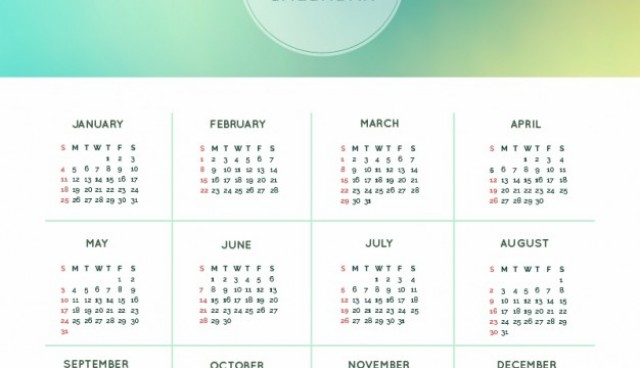 Abstract 2015 calendar  Vector |   Download