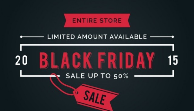 Black Friday sale label vector  Vector |   Download