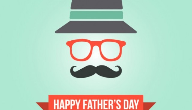 Father's day hipster card template   Vector |   Download