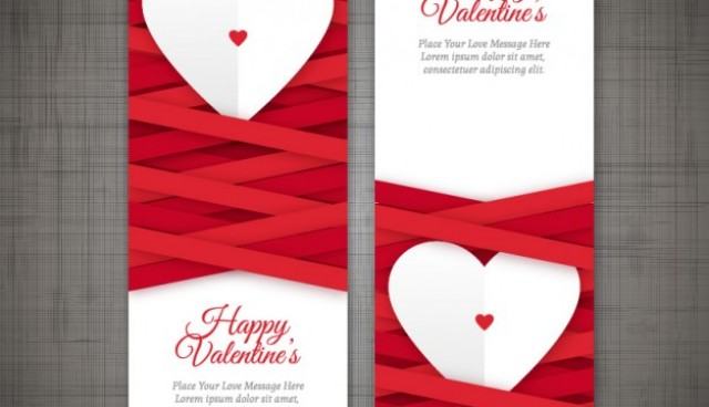 Valentine's Day banners  Vector |   Download