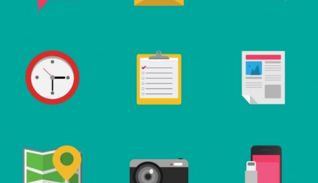 Colorful detailed objects icons  Vector     Download
