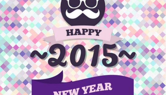 Hipster style New Year card  Vector |   Download