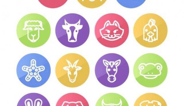 Animals round icons pack  Vector |   Download