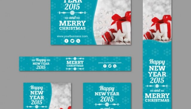 Christmas banner templates pack  Vector |   Download