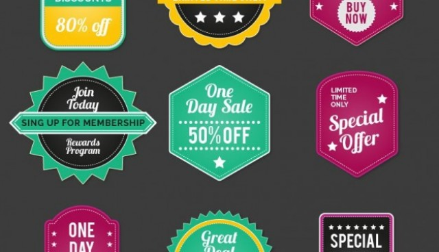 Vintage sales badges  Vector |   Download