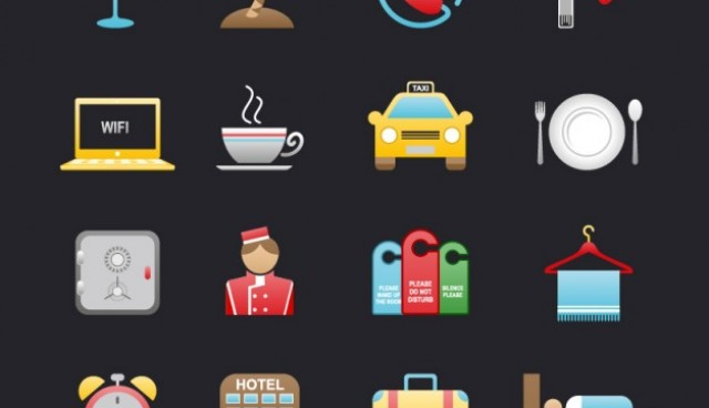 Hotel and travel icons  Vector |   Download