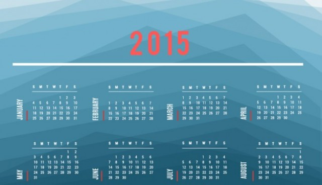 2015 Calendar vector with polygonal background  Vector |   Download