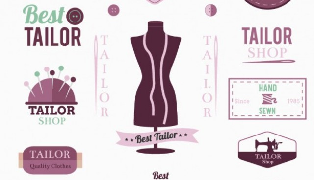 Tailor logos and badges   Vector |   Download