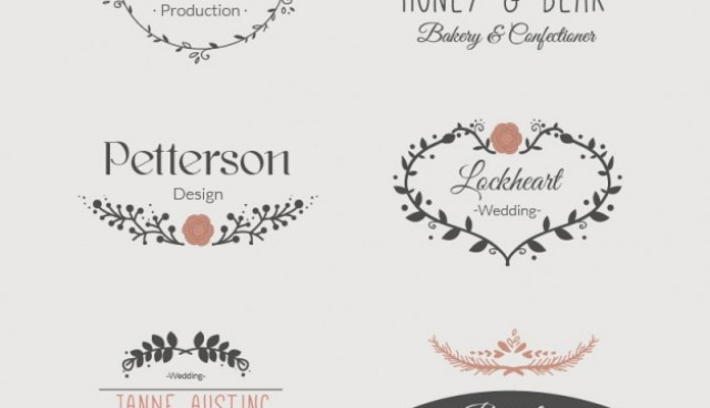 Floral templates set of logos   Vector |   Download