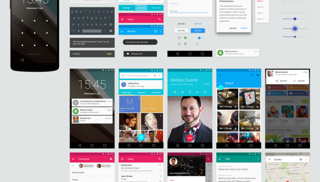 Android Lollipop GUI Kit PSD