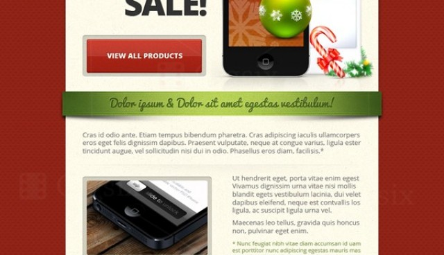 Christmas Email Template & New Year Email Template