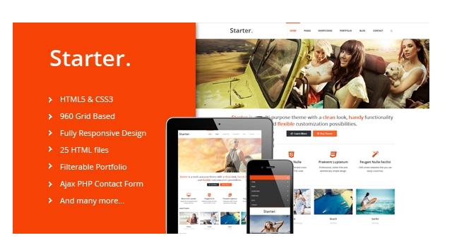 Starter – Responsive HTML5 Template