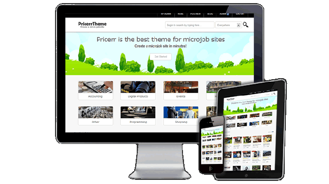 Pricerr – Microjobs WordPress theme